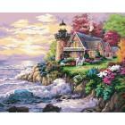 640-AB Шумный берег ( художник Ники Боэм) Раскраска картина по номерам акриловыми красками на холсте