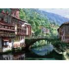 632-AB Древний мост через Нив Раскраска картина по номерам акриловыми красками на холсте Белоснежка