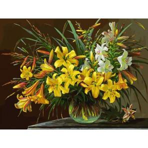 Золотая лилия Раскраска картина по номерам на холсте Белоснежка