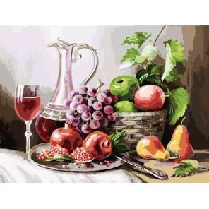 Натюрморт с фруктами Раскраска картина по номерам на холсте Белоснежка
