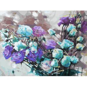 121-AS Ноктюрн с розами Раскраска картина по номерам акриловыми красками на холсте Белоснежка