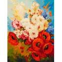 Цветочная мозаика Раскраска картина по номерам на холсте Белоснежка