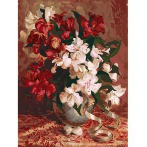 123-AS Альстромерия Раскраска картина по номерам акриловыми красками на холсте Белоснежка