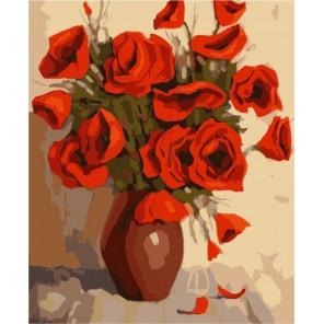 ME1023 Маки (художник Станислав Измайлов) Раскраска по номерам акриловыми красками на холсте Menglei