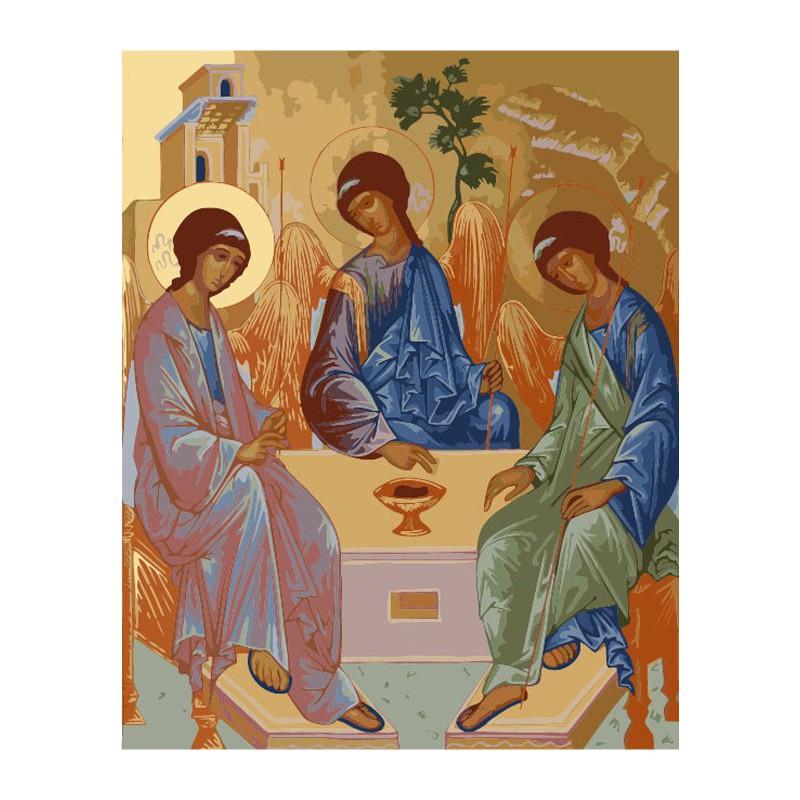 Раскраска по номерам Святая Троица картина 30х40 см на ...