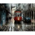MG2041 Петербург под дождём Раскраска картина по номерам акриловыми красками на холсте Menglei