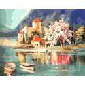 На рассвете. Италия Раскраска картина по номерам на холсте Menglei