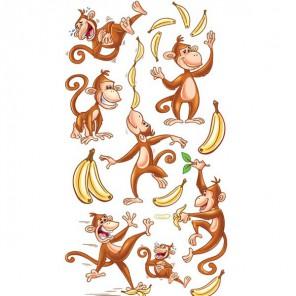 Танцующие обезьянки Стикеры для скрапбукинга, кардмейкинга Ek Success