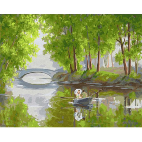 GX7797 Романтический пейзаж (художник Елена Самарская) Раскраска картина по номерам акриловыми красками на холсте
