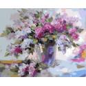 Сирень Раскраска картина по номерам на холсте