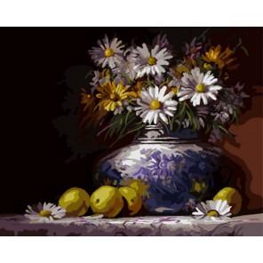 GX8192 Букет ромашек Вахида Насира Раскраска картина по номерам акриловыми красками на холсте