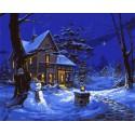 Однажды зимней ночью (художник Майкл Хамфрис) Раскраска картина по номерам на холсте