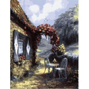 Уютный сельский пейзаж Раскраска картина по номерам на холсте
