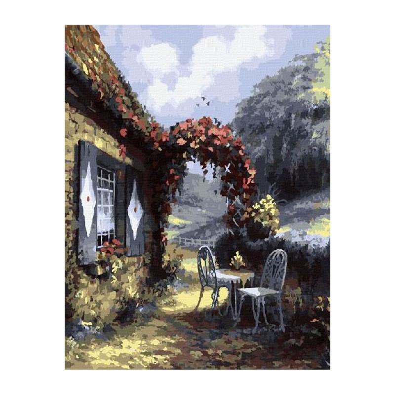 уютный сельский пейзаж раскраска картина по номерам на холсте Z Gx8155