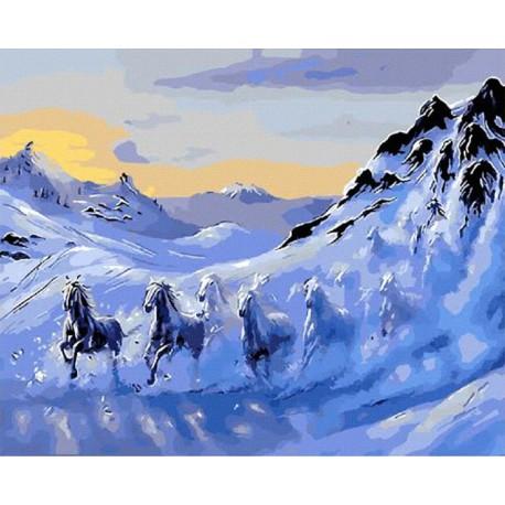 GX9661 На зимних склонах Раскраска картина по номерам акриловыми красками на холсте Molly