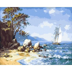 GX9714 Ветер с моря Раскраска картина по номерам акриловыми красками на холсте Molly