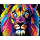CKC012 Радужный лев Алмазная вышивка (мозаика) на подрамнике Color Kit