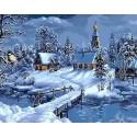Крещенские морозы Раскраска картина по номерам на холсте Menglei