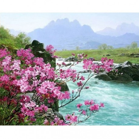 MG6044 Альпийская весна Раскраска картина по номерам акриловыми красками на холсте Menglei