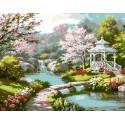 Японский садик Раскраска картина по номерам на холсте Menglei