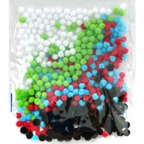 Микс 1 (5цветов) Помпоны декоративные 5мм