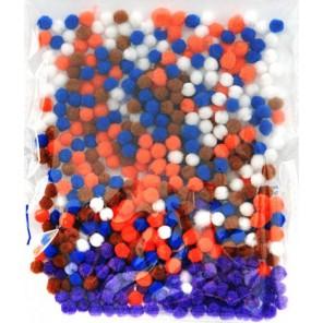 Микс 2 (5цветов) Помпоны декоративные 5мм