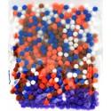 Микс 2 (5цветов) Помпоны 5мм декоративные для поделок