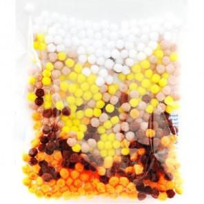 Микс 3 (5цветов) Помпоны декоративные 5мм