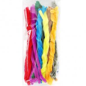 Весенние цвета Синельная суперпушистая проволока (шенил) для поделок и детского творчества