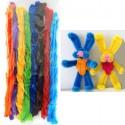 Летний набор Синельная суперпушистая проволока (шенил) для поделок и детского творчества