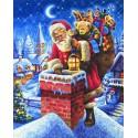 Санта Клаус на крыше Раскраска картина по номерам Schipper (Германия)