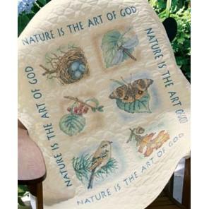 Одеяльце Природа 03235 Набор для вышивания Dimensions ( Дименшенс )