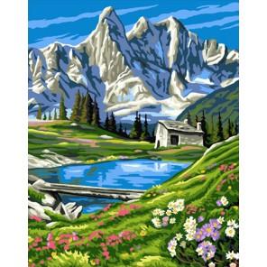 У подножия гор Раскраска картина по номерам на холсте Molly