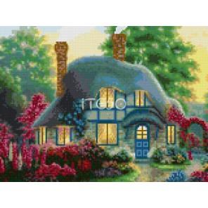 Райский домик Алмазная мозаика на твердой основе Iteso