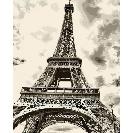 эйфелева башня раскраска картина по номерам на холсте Menglei Mg7668