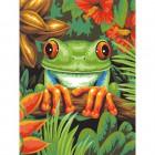 Древесная лягушка Раскраска картина по номерам акриловыми красками Dimensions