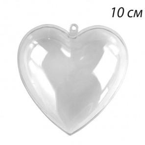 Сердце 10см разъемное Фигурка из пластика для декорирования