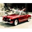 Красный ретро-автомобиль Раскраска картина по номерам акриловыми красками на холсте