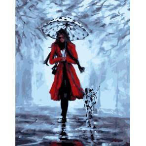 Прогулка с далматинцем Раскраска картина по номерам на холсте