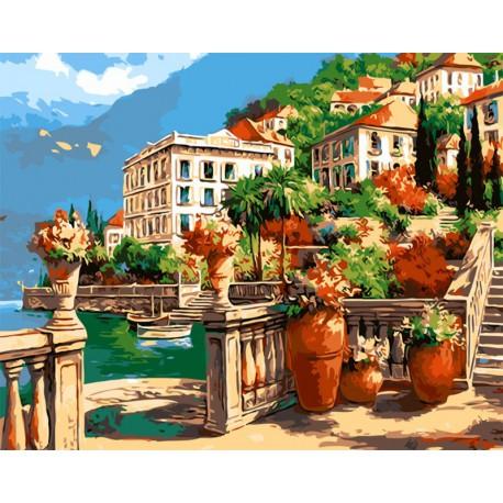 Побережье Мармариса Раскраска картина по номерам акриловыми красками на холсте
