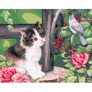 Встреча в саду Раскраска картина по номерам на холсте