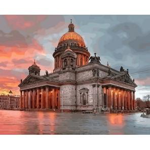 Утренний Санкт-Петербург Раскраска картина по номерам акриловыми красками на холсте Paintboy