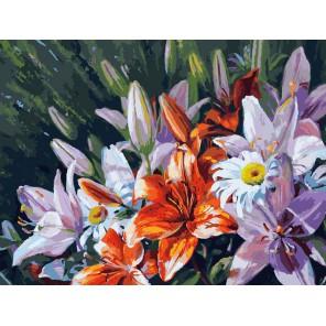 Лилии из сада Раскраска картина по номерам на холсте Белоснежка