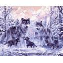 Счастливая семья Раскраска картина по номерам акриловыми красками на холсте