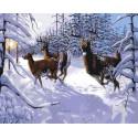 Морозное утро Раскраска картина по номерам на холсте
