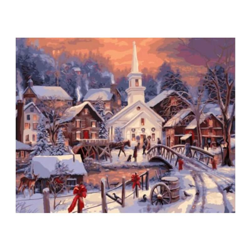 рождество в моей деревне картинки чудный