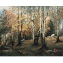 Осенний лес Раскраска картина по номерам на холсте