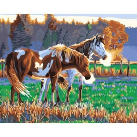 Раннее утро Раскраска картина по номерам акриловыми красками на холсте