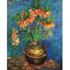 Рябчик в медной вазе (репродукция Ван Гога) Раскраска картина по номерам на холсте Molly