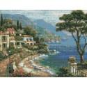 Живописная бухта Сен Кима Алмазная мозаика на подрамнике Цветной